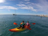 Children in the kayak initiation course