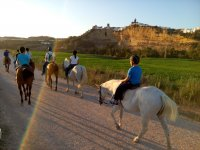 en la ruta a caballo