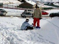 调整滑雪板