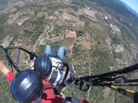 Watching the villages from the paraglide