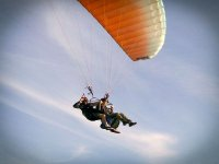 Saying hello from the tandem paraglide