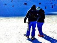 夫妇与雪鞋