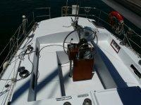 El timon del barco