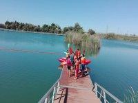 Charla previa antes de comenzar la sesion de kayak