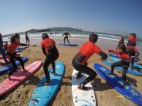 Aprendiendo surf en Semana Santa