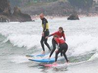 Clase práctica de surf