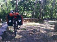 Bicicleta con equipaje