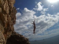 Jumping from the cliff