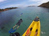 Snorkel desde el kayak