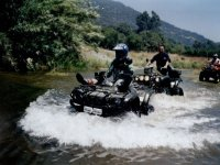 Crossing the river with the quads