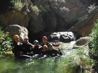 spit doing canyoning