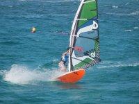 Entrenando en windsurf