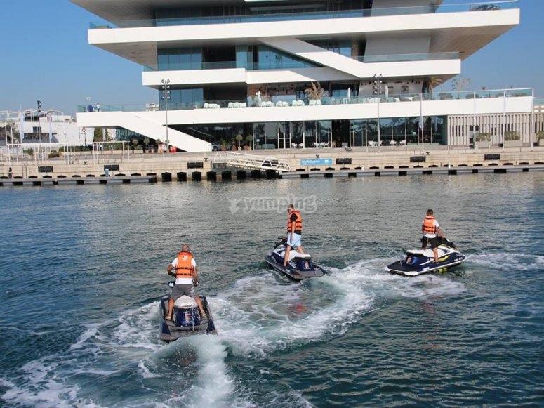 Motos de agua en la costa de Alicante