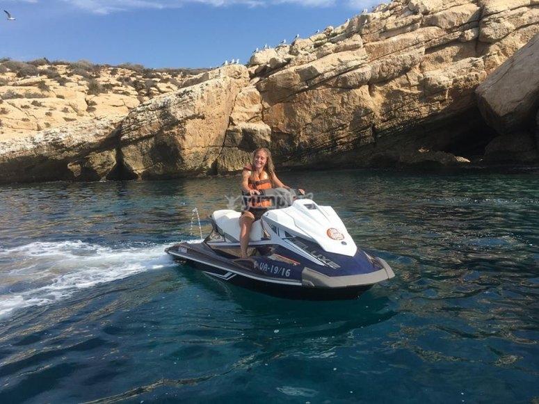 Recorrido en moto de agua en Alicante