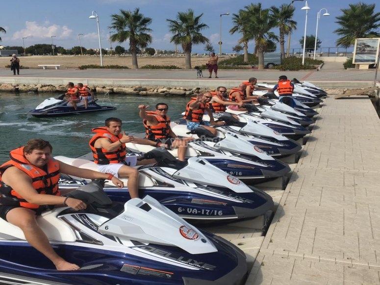 Tour costa Blanca grupos moto de agua
