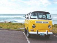 Yellow surf van