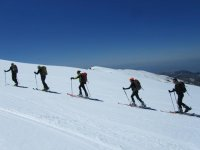 Cross-country skiing routes in Sierra Nevada