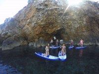 Paddle surf en acantilado en Ibiza