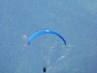 Paraglide flying in Castejon de Sos