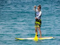 Haciendo una travesia de stand up paddle