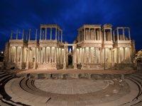 Teatro Romano de Merida de noche