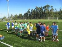 Preparando la sesion de futbol