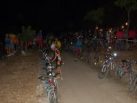 On the night route with the bikes