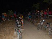 En la ruta nocturna con las bicis