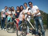 The group with the bikes