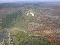 Sobrevolamos las alturas de Extremadura