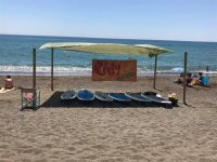 Tablas de surf en la costa de Malaga