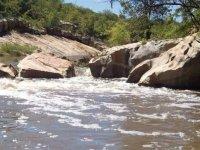 final de tramo en el rio