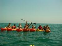 Partenza in kayak da Torrevieja