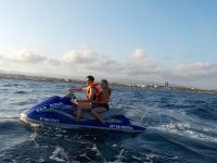 Sharing the jet ski in Cambrils