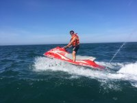 On the jet ski at the coast of Tarragona