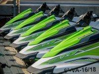 A fleet of jet skis