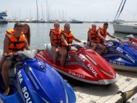 In couples on the jet skis