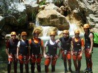 Grupo de barranquistas