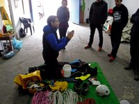 Course of initiation to canyoning