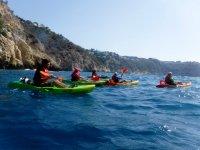 Ruta en kayak a la cueva Tallada