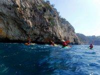Travesia en kayak de mar