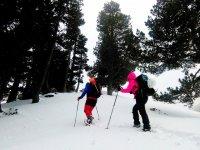 Travesia en raquetas de nieve