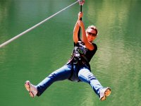 Zip line over the lake