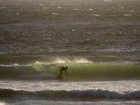Cogiendo olas con el kite