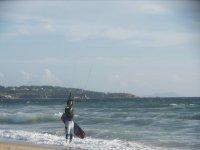 Sessione di kitesurf
