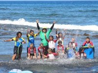 Members of the surf camp in Tenerife