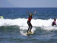 Feliz con el reto superado en el mar