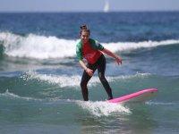 Surfeando en la Playa de Arona