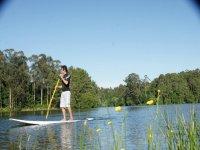 Camminare con il paddle surf