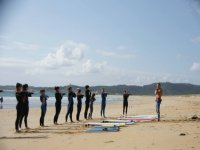 Group of surf students